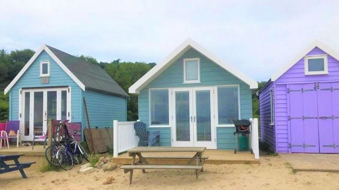 UK's 'most expensive beach hut' can sleep six and could be yours for £350,000